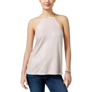 Guess Womens Cami Metallic Halter