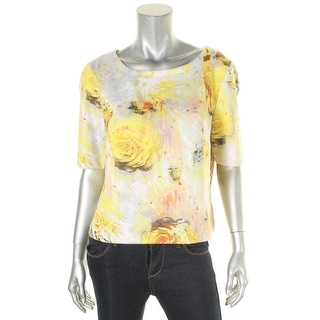 Kiind Of Womens Gracie Casual Top Scuba Printed