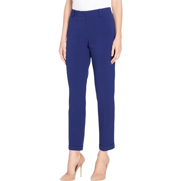 Tahari ASL Womens Dress Pants Bi Stretch Cuffed