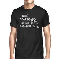 Stop Staring At My Boo Mens Black T-Shirt Halloween Matching Shirts