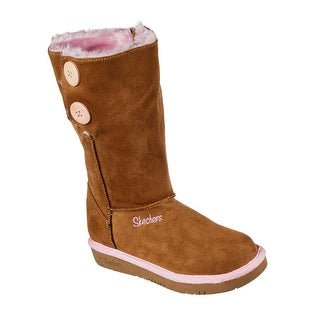Skechers 89124L CNHP Girl's GLAMSLAM - BUTTON BEAUTIES Boots