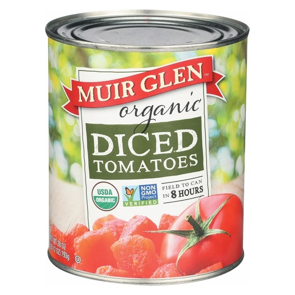 Muir Glen Muir Glen Diced Tomato - Tomato - Case of 12 - 28 oz.