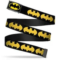Batman Fcg Black Yellow Black Frame Bat Signal 1 Black Yellow Webbing Web Belt