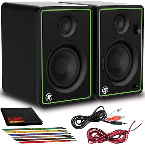"""Mackie CR4-XBT 4"""" Multimedia Monitors Pair (Bluetooth) with Cable Ties"""