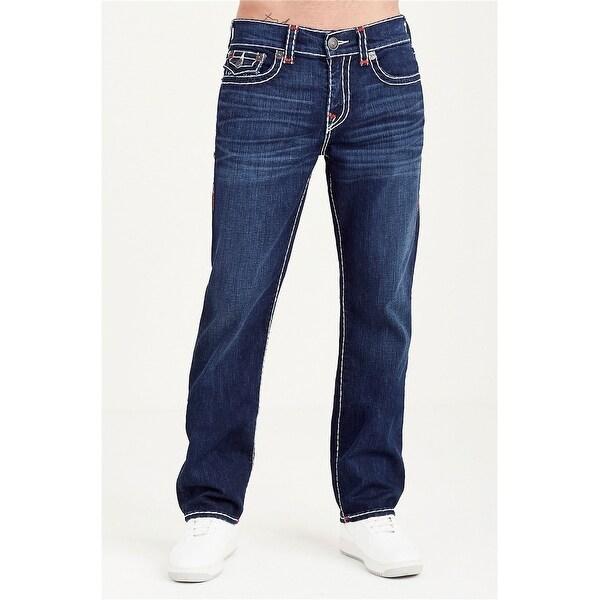 True Religion Mens Ricky Straight Leg Jeans, blue, 31W x 34L - 31W x 34L. Opens flyout.