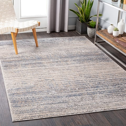 Symone Distressed Striped Area Rug