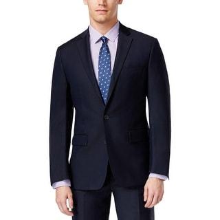 Ryan Seacrest Mens Two-Button Blazer Wool Notch Lapel