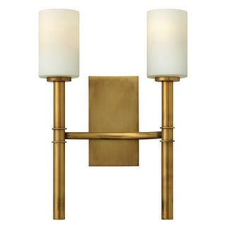Hinkley Lighting 3582 2 Light Indoor Double Wall Sconce from the Margeaux Collection - Vintage Brass