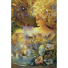 ''Crystal of Enchantment'' by Josephine Wall Fantasy Art Print (36 x 24 in.)