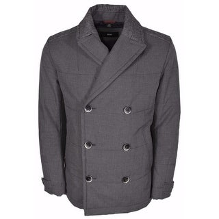 BOSS Hugo Boss Black Line Camius $645 Double Breasted Pea Coat 42 R