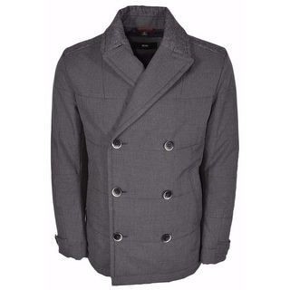 BOSS Hugo Boss Black Line Camius $645 Double Breasted Pea Coat 44 R