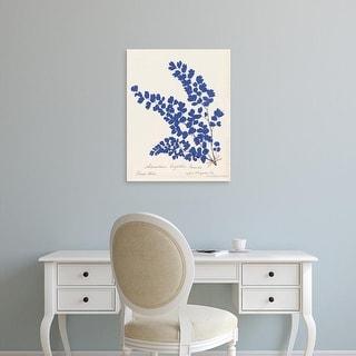 Easy Art Prints Wild Apple's 'Botanical Fern III Blue' Premium Canvas Art
