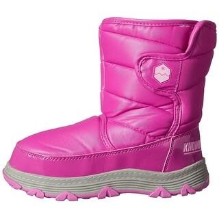 Khombu Girls Magic Ankle Snow Boots, Fuchsia, Size 8 M US Toddler - 8 m us toddler