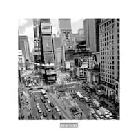 ''Times Square Afternoon'' by Henri Silberman New York Art Print (11.75 x 11.75 in.)