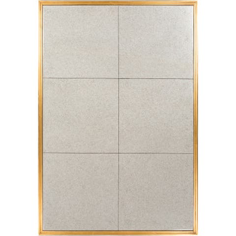 "Edina Antiqued Tile Beveled Wall Mirror - 40"" x 60"""