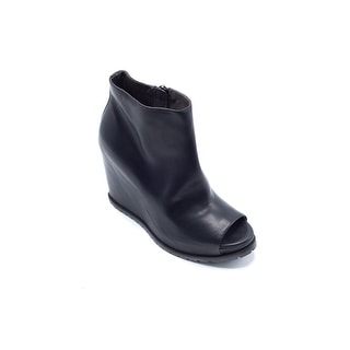 Brunello Cucinelli Womens Leather Wedge Ankle Boots