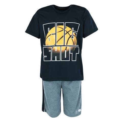 Only Boys Boy's Big Shot Basketball Short and Tee Lounge Set