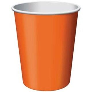 Sunkissed Orange - Paper Hot & Cold Cups 9Oz 24/Pkg