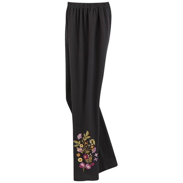 bd2ce57210c0a8 April Cornell Women's Floral Embroidered Comfort-Fit Leggings with  Ankle Print
