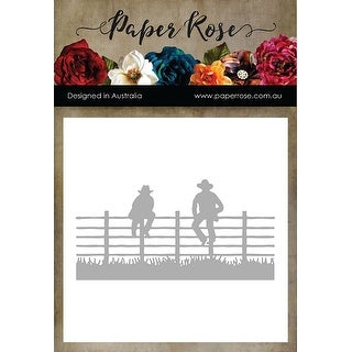 Paper Rose Dies-Men Sitting On Fence