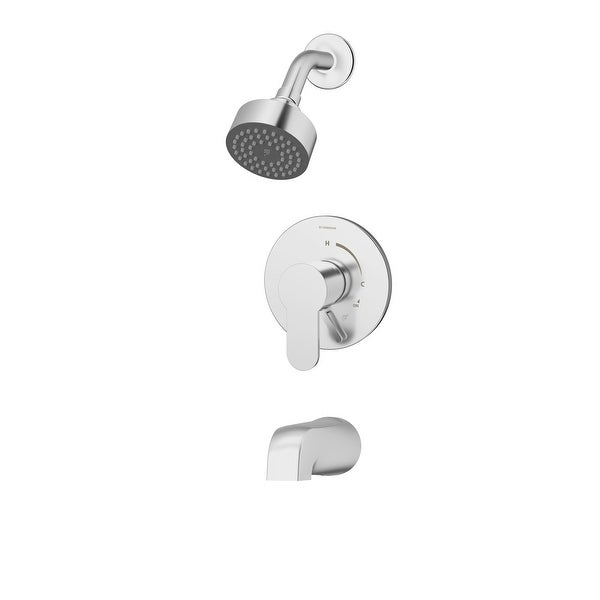 Symmons S-6702 Identity Tub and Shower Trim Package with Single-Function Shower Head and Integrated Diverter