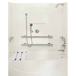 Sterling 71091112 Acclaim 5 Foot Three Wall Alcove Soaking Tub with Left Hand Drain