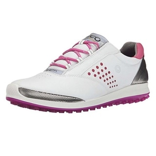 Ecco Womens Biom Hybrid 41 Euro 10-10.5 White/Candy YAK Golf Shoes