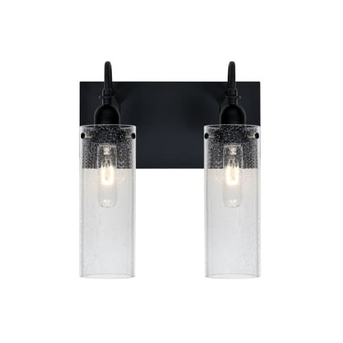 Besa Lighting 2WG-JUNI10CL Juni 2 Light Vanity Strip with Clear Bubbled Glass Shades