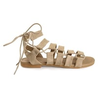 a6f1d906bc9c Brinley Co Womens Clove Caged Faux Leather Strappy Gladiator Sandals - 8.5