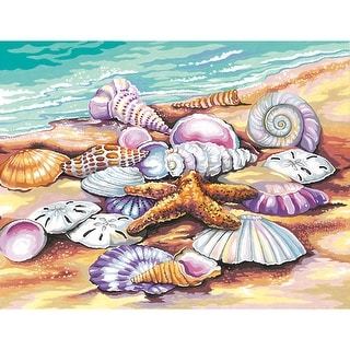 """Paint Works Paint By Number Kit 11""""X14""""-Shells"""