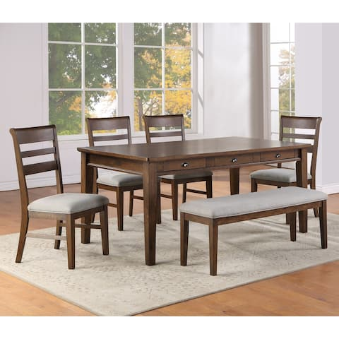 Copper Grove Ohey Warm Walnut 6-Piece Dining Set