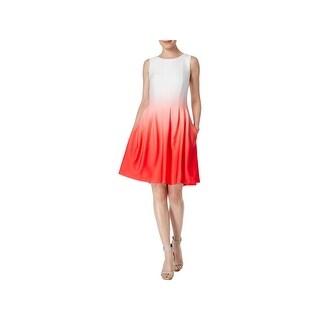 Calvin Klein Womens Wear to Work Dress Jersey Ombre