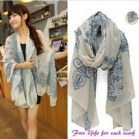 Light Weight Trendy Floral Scarf
