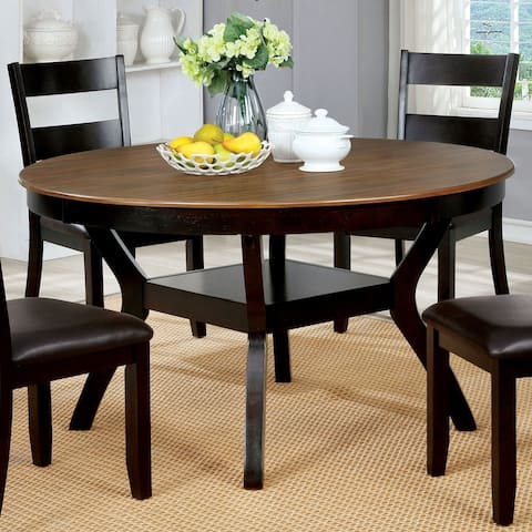 Furniture of America Sine Transitional Brown 54-inch Dining Table
