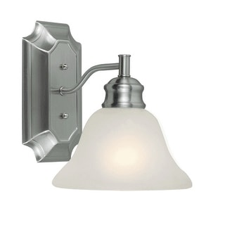 Design House 516666 Bristol 1-Light Wall Sconce, Satin Nickel