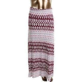 Design History Womens Convertible Printed Maxi Skirt