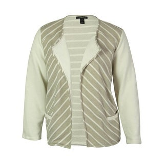 Style & Co. Women's Open Front Striped Cardigan