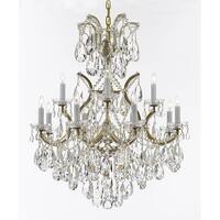 Maria Theresa Chandelier With Luxe Crystals - Gold