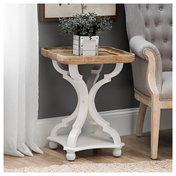 COZAYH Rustic Farmhouse Tray Top End Table. Opens flyout.