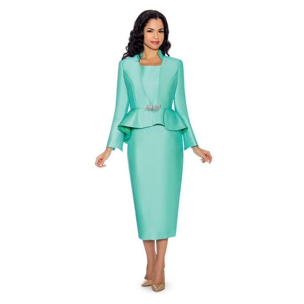 Giovanna Collection Women's 3-piece Peplum Virtual Silk Skirt Suit. Opens flyout.