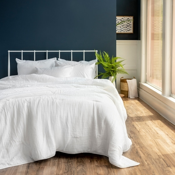 The Welhome Reese Cotton Gauze Comforter. Opens flyout.