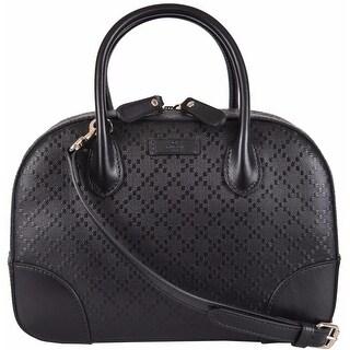 NEW Gucci 354224 Bright Diamante Black Leather Convertible Purse Handbag