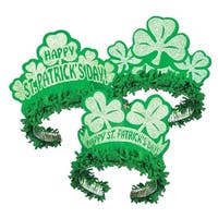 Pack of 50 St. Patrick's Day Regal Tiara Costume Accessories - Green