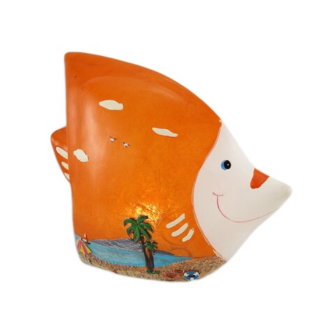 Tropical Fish Beach Themed LED Table Accent Lamp - 6.5 X 8 X 4 inches