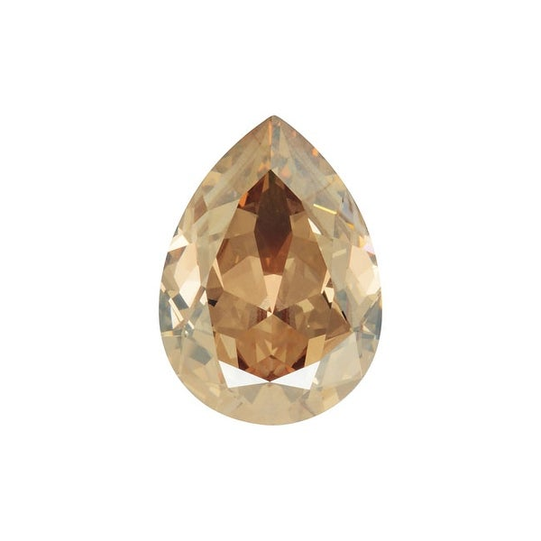 Swarovski Crystal, 4320 Pear Fancy Stone 18x13mm, 1 Piece, Crystal Golden Shadow F