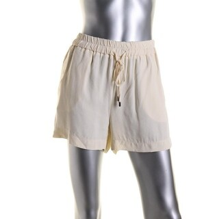 Zara Womens Pull On Textured Casual Shorts