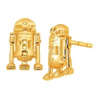Star Wars R2-D2 Stud Earrings in 10K Gold - YELLOW