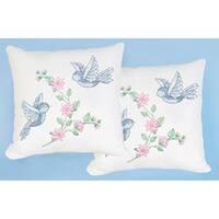 "Birds - Stamped White Pillowtops 15""X15"" 2/Pkg"