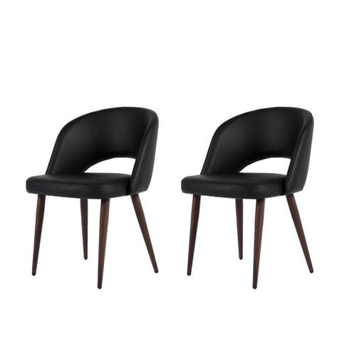 Combie Modern Dining Chair Black PU (Set of 2)