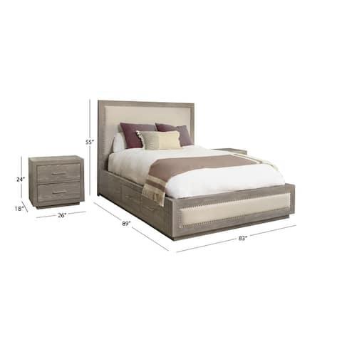 Abbyson Canterbury Wood Storage 3 Piece Bedroom Set